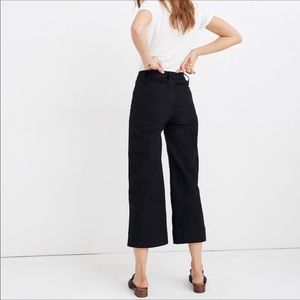 Madewell Emmett Black Wide Leg Crop 27